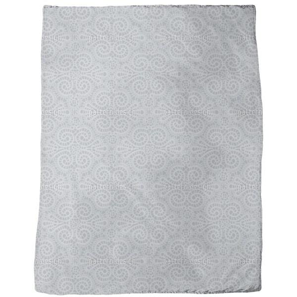 Elegant Lace Fleece Blanket