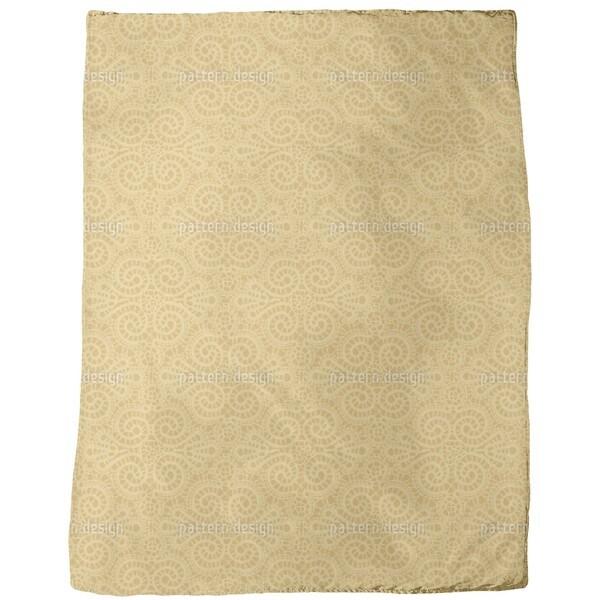 Elegant Lace Pattern in Gold Fleece Blanket