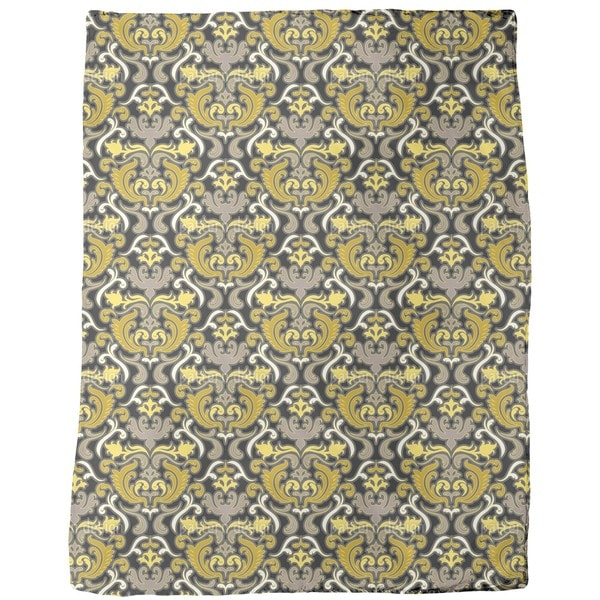 Bon Apart Yellow Fleece Blanket