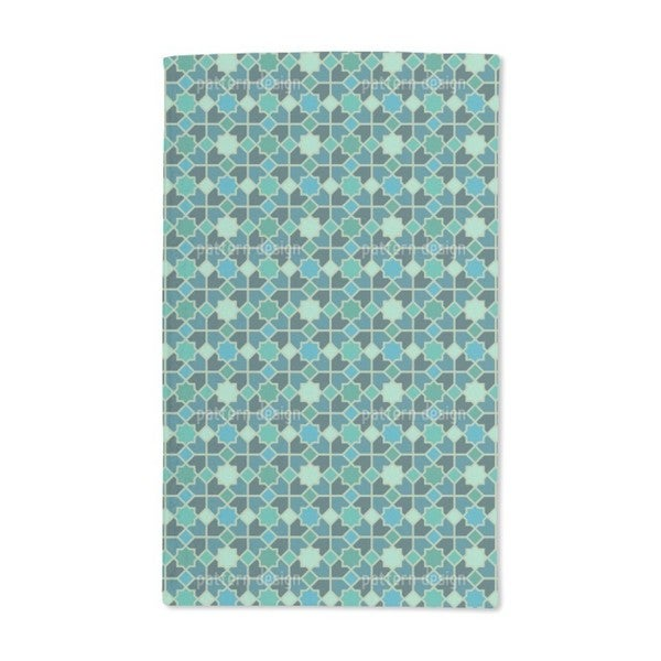 Morocco Teal Hand Towel (Set of 2)