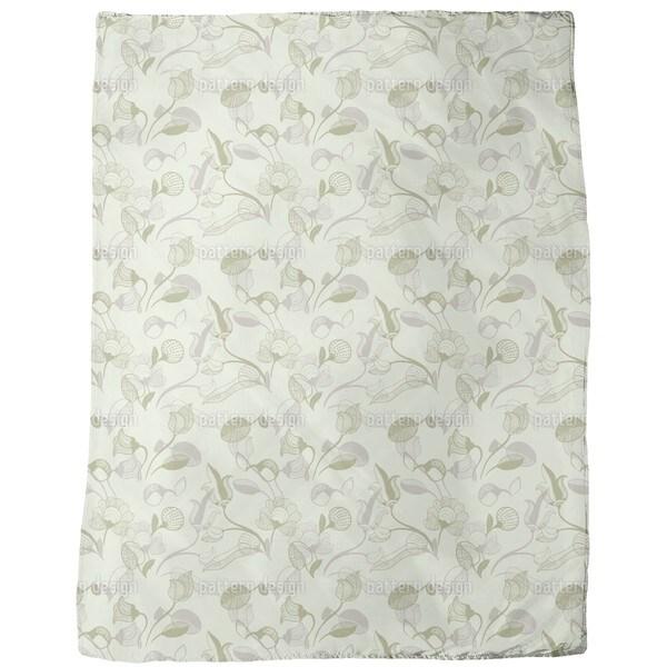 Fairy Tale Meadow Fleece Blanket