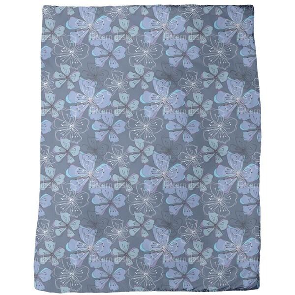 Lovely Blossoms Fleece Blanket