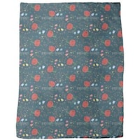 Floral Mix Fleece Blanket