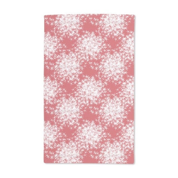 Stars Sparkle on Red Hand Towel (Set of 2)