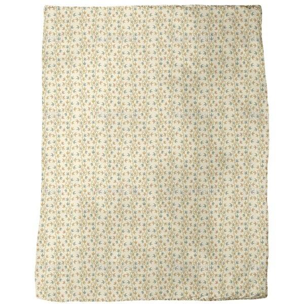 Ivy Tendrillars Beige Fleece Blanket