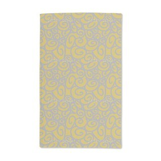 Beginning and End Gold Silver Hand Towel (Set of 2)