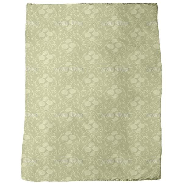 Rose Green Fleece Blanket