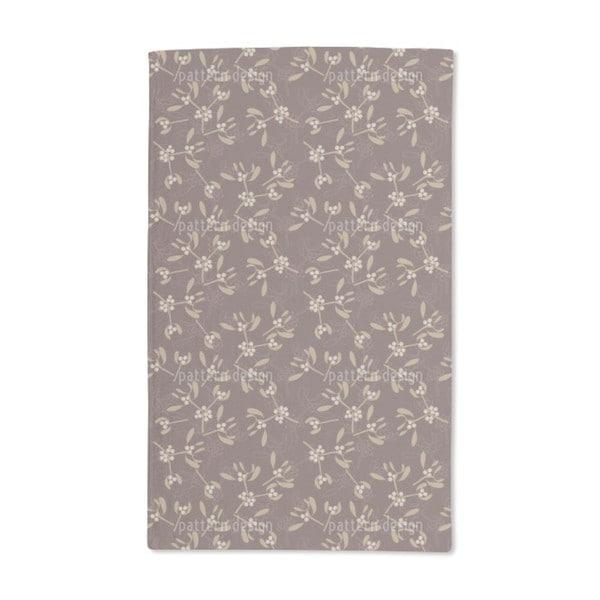 Mistletoe Brown Hand Towel (Set of 2)