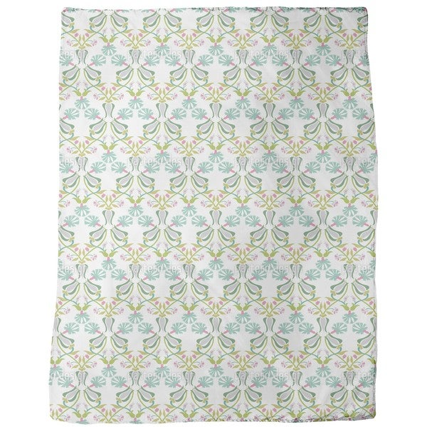 Tulips and Carnations Entwined Fleece Blanket