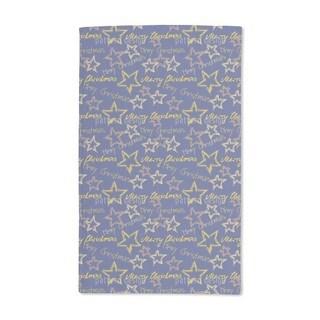 Merry Christmas Blue Hand Towel (Set of 2)