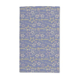 Merry Christmas Blue Hand Towel (Set of 2)