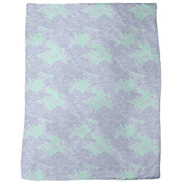 Vintage Flowers Fleece Blanket