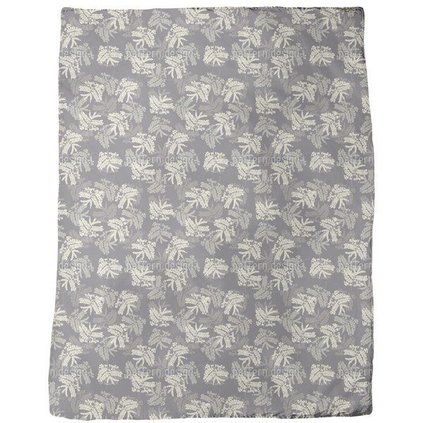 Acacia Leaves Fleece Blanket