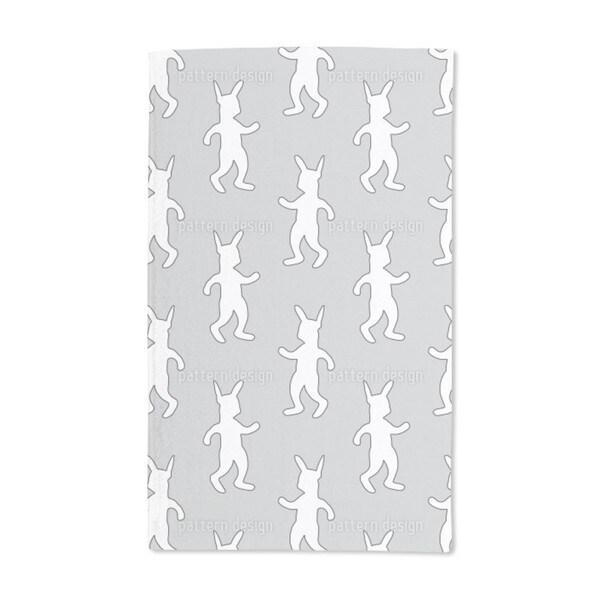 Rabbit Dance Softrock Hand Towel (Set of 2)
