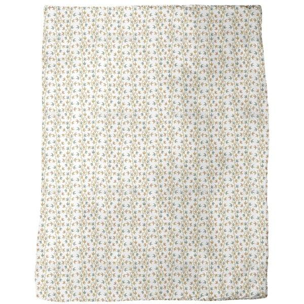 Ivy Tendrillars White Fleece Blanket