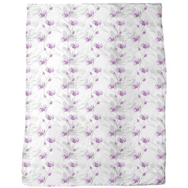 Magnolia Blossoms Fleece Blanket
