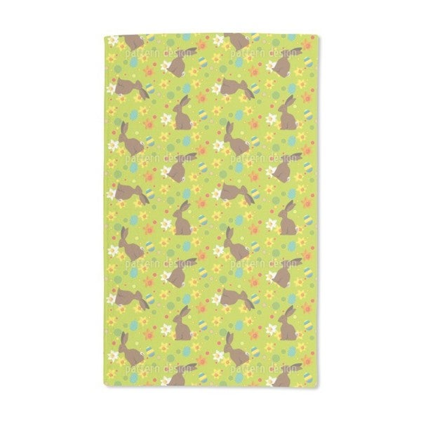 Easter Bunny Green Hand Towel (Set of 2)