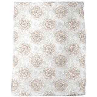 Oriental Mandala Fleece Blanket