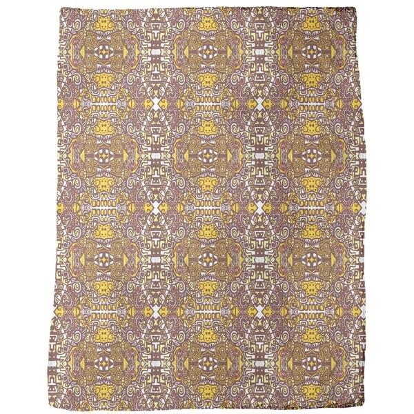 In the Aztec Temple Fleece Blanket