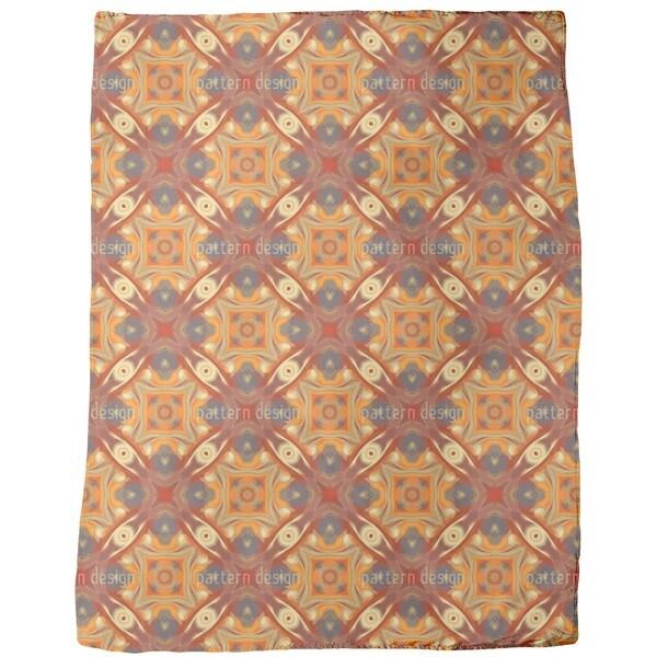 Oriental Eyes Fleece Blanket