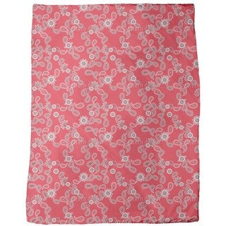 Paisley in Red Fleece Blanket