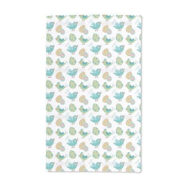 Sweet Easter Eggs and Birds Hand Towel (Set of 2)