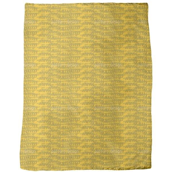 Reptilio Yellow Fleece Blanket