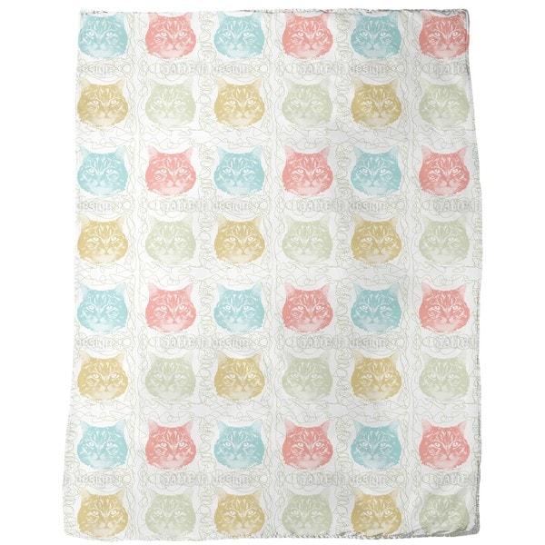 Kitty Minka Loves Wool Fleece Blanket