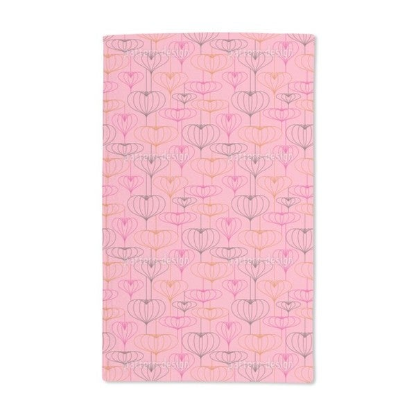 Heart Lantern Pink Hand Towel (Set of 2)