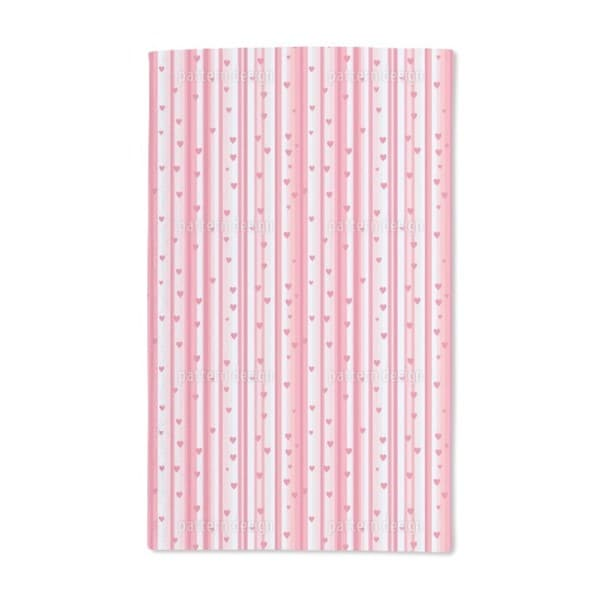 Romantic Hearts on Strips Hand Towel (Set of 2)