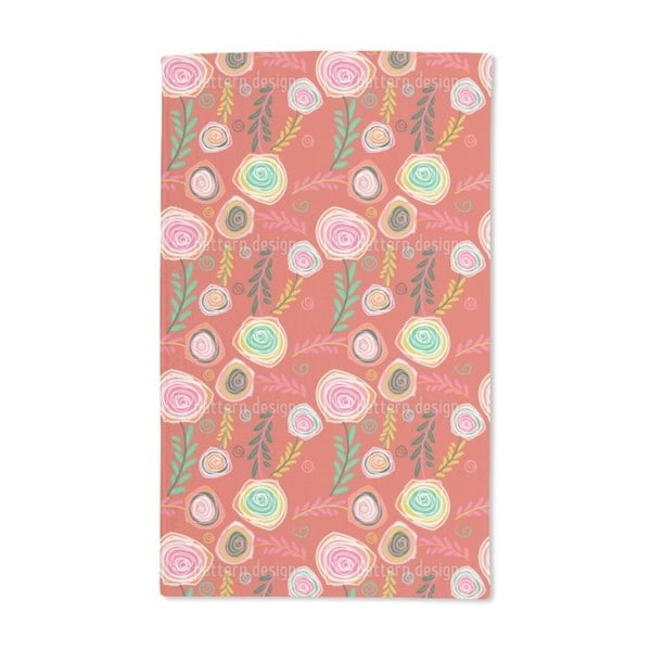 Crazy For Roses Hand Towel (Set of 2)