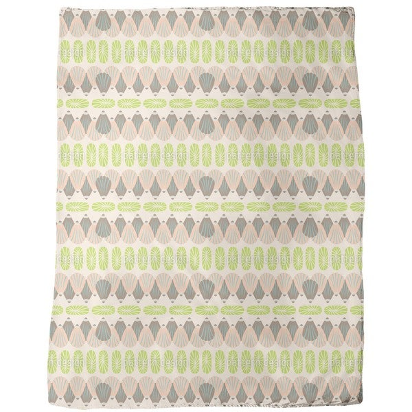 Shell Decor Fleece Blanket