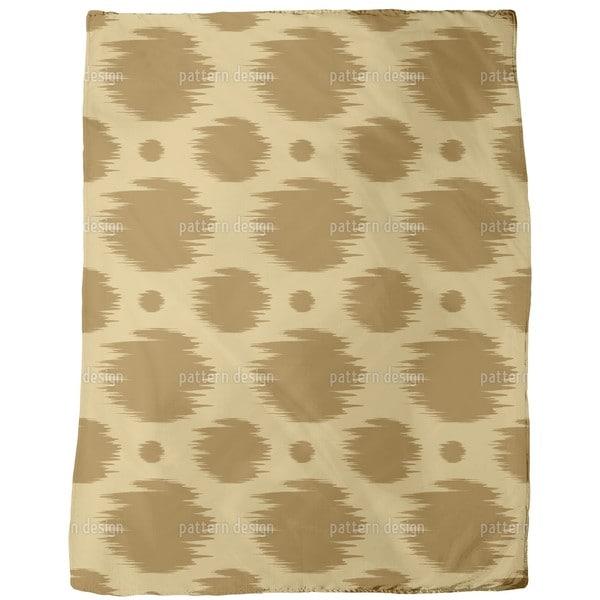 Dots in Fast Motion Fleece Blanket