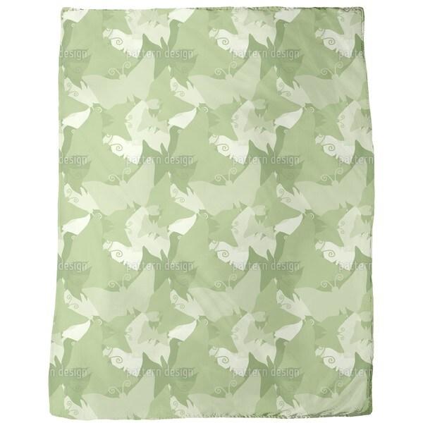The Journey of the Green Butterflies Fleece Blanket