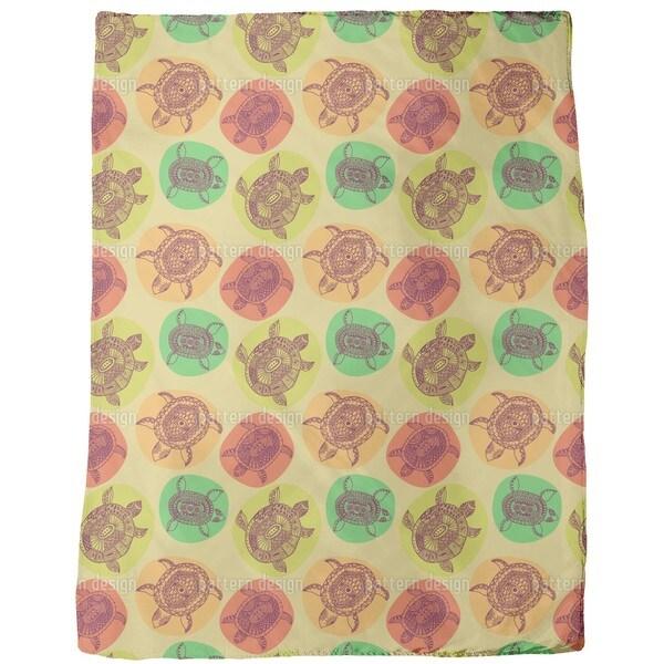 Turtles of All Oceans Fleece Blanket