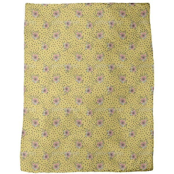 Flower Fur Fleece Blanket