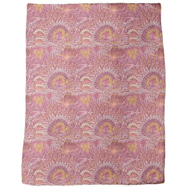 Reef Garden Red Sea Fleece Blanket