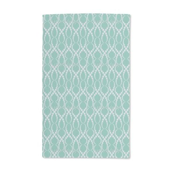 Emerald Pearls Hand Towel (Set of 2)