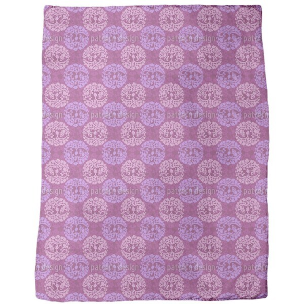 Calm Wood Purple Fleece Blanket