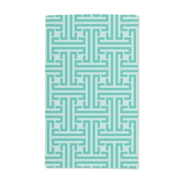 Emerald Labyrinth Hand Towel (Set of 2)