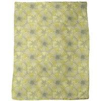 Turning Wheels Yellow Fleece Blanket