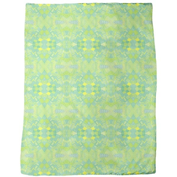 Filigree Network Lemon Fleece Blanket