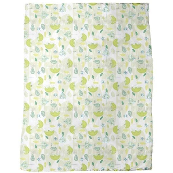Yellow Dance Fleece Blanket
