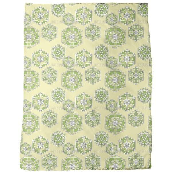 Green Morocco Fleece Blanket