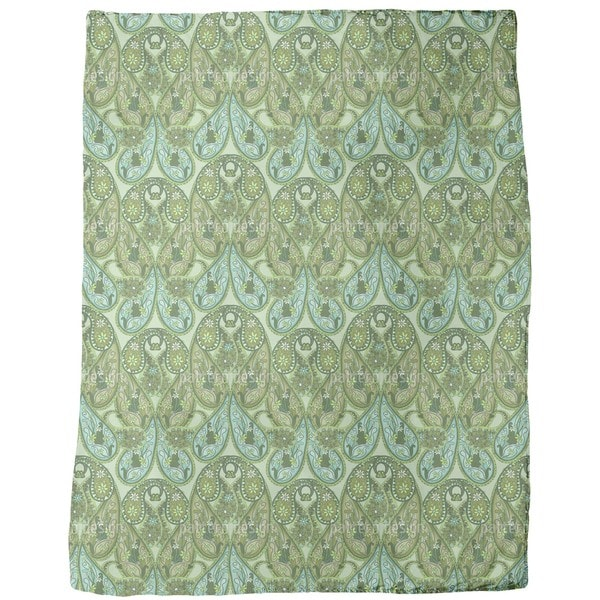 Paisley Mysterioso Fleece Blanket
