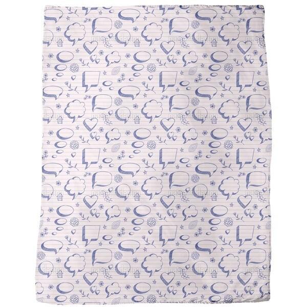 Speech Bubbles on Paper Fleece Blanket