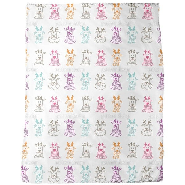 Rudolf and Friends Fleece Blanket