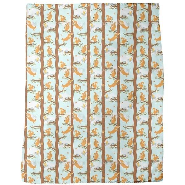 Squirrel Party Fleece Blanket