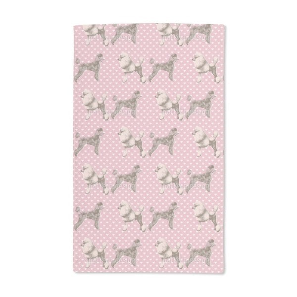 Poodles With Heart Hand Towel (Set of 2)