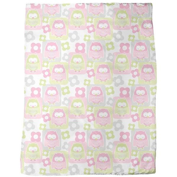 Cute Owls Fleece Blanket
